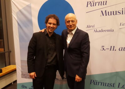 With Paavo Järvi after concert in Pärnu 2018