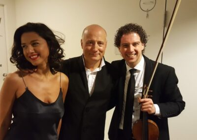 With Paavo Järvi and Khatia Buniatishvili